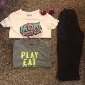 Toddler Boy Pants and 2 Shirts